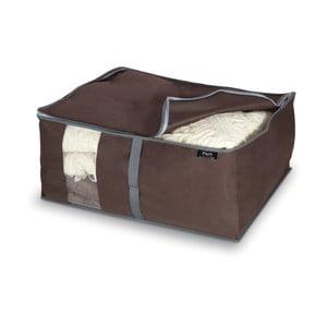 Hnedý úložný box na paplóny Domopak Living, 25x45cm