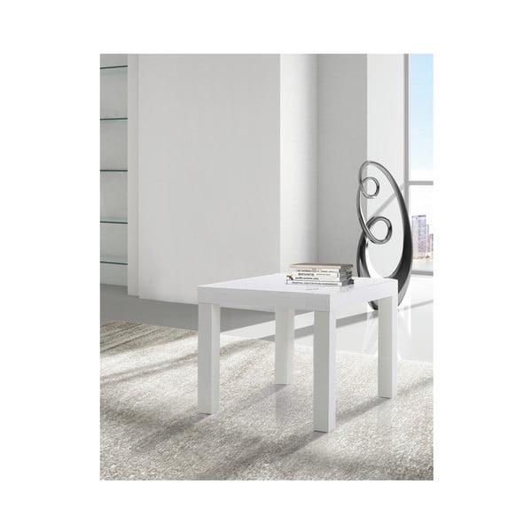 Biely odkladací stolík Evergreen Houso City