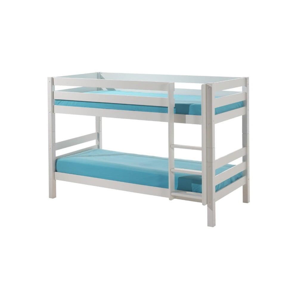 Biela detská poschodová posteľ Vipack Pino, výška 140 cm