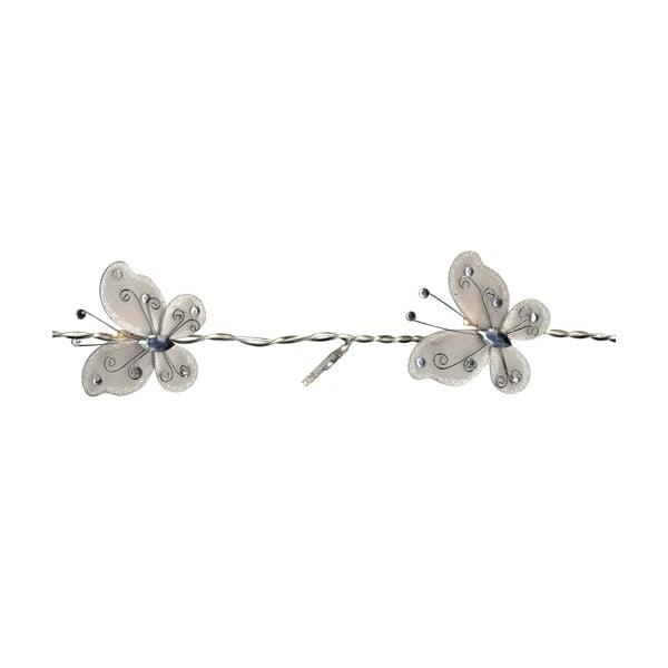 Svetelná reťaz Butterflies 120 cm, biela