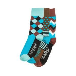 Sada 3 párov unisex ponožiek Funky Steps Maiki, veľkosť 39/45