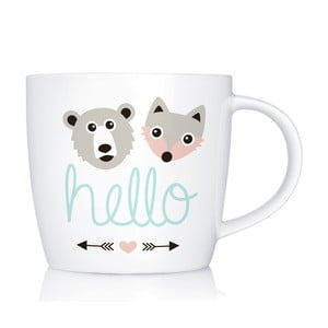 Porcelánový hrnček We Love Home Hello, 300 ml