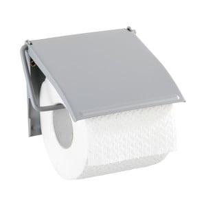 Sivý nástenný držiak na toaletný papier Wenko Cover