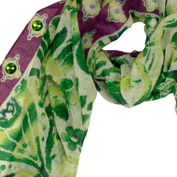 Vlnená šatka Shirin Sehan - Muriel Grass
