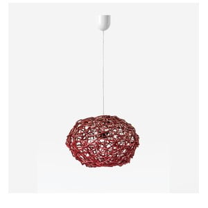 Stropné svetlo Kula, 32x25 cm, červené