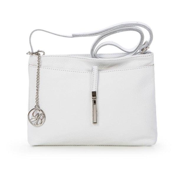 Kožená kabelka Francesco, biela