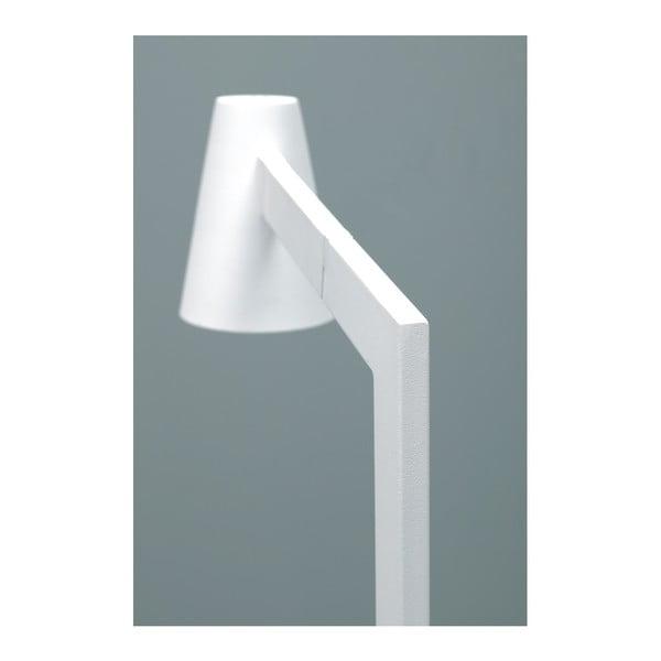 Biela stojacia lampa Design Twist Fahy