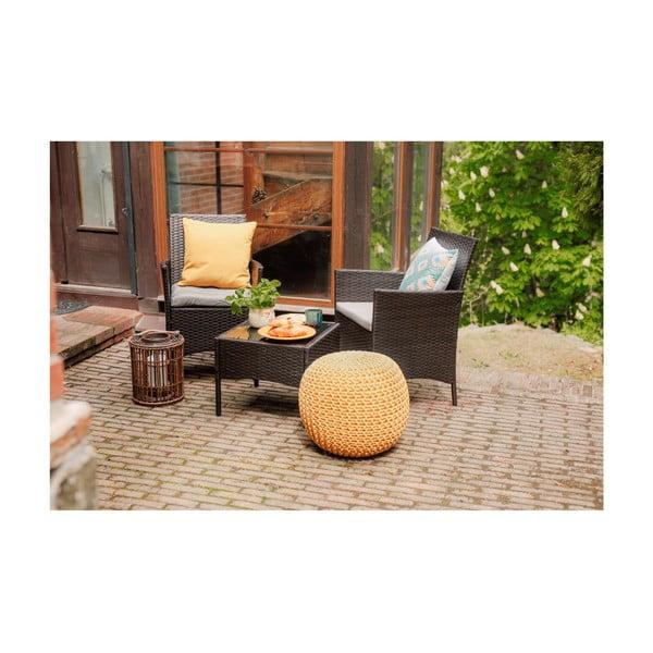 Set záhradného nábytku z umelého ratanu Timpana Meloni
