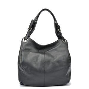Čierna kožená kabelka Carla Ferreri Ofelie