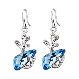 Náušnice s modrými krištáľmi Swarovski Elements Crystals Forest