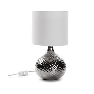 Strieborná stolová lampa Versa Metal