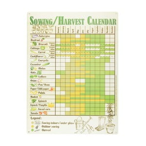 Ceduľka Esschert Design Kalendár úrody