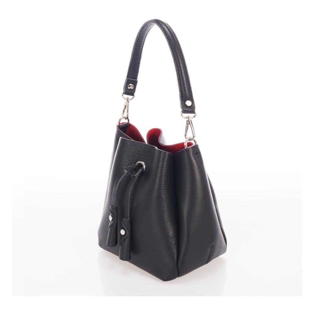 bc3a0bd2d4e2 Čierna kožená kabelka Giorgio Costa Acca ...