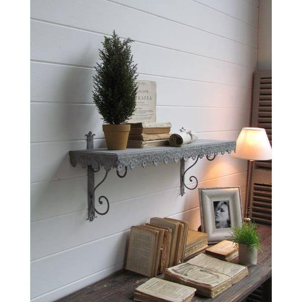 Nástenná polica Wall Antique Grey, 84 cm