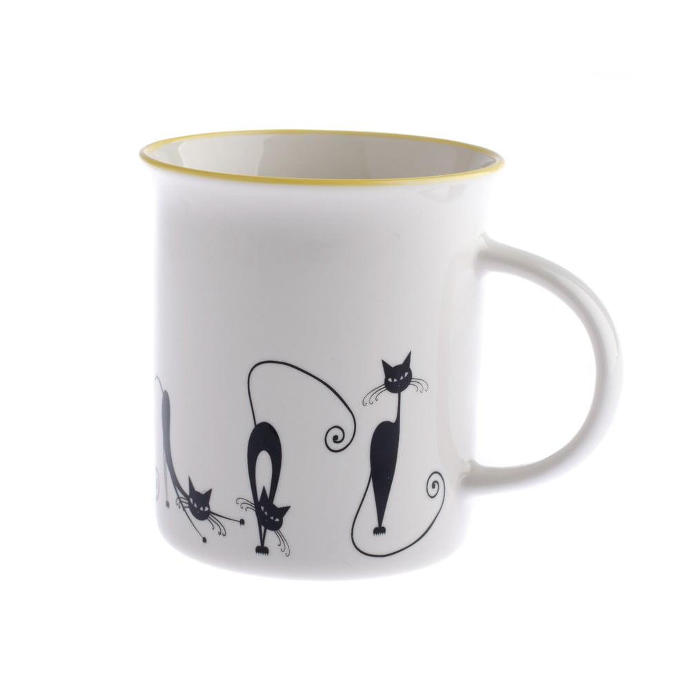 Porcelánový hrnček Dakls Cats Andie, 310 ml