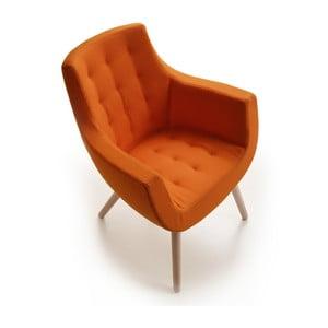 Oranžové kreslo Zago Woody Bureau