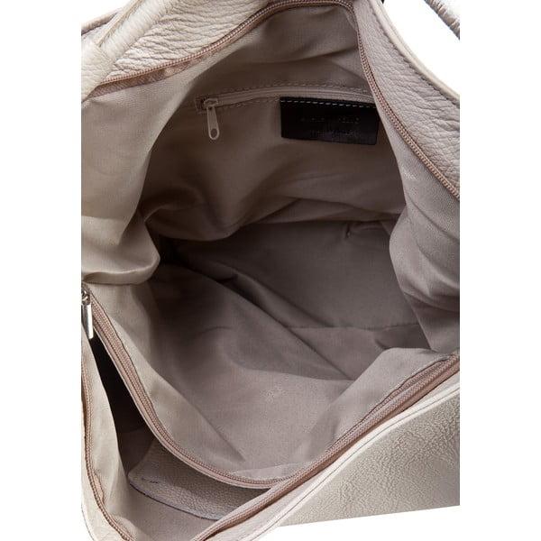 Svetlobéžová kožená kabelka Massimo Castelli Norvala