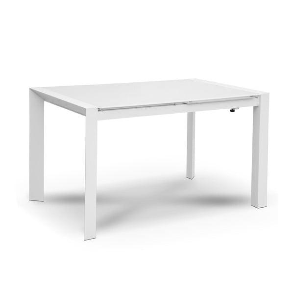 Rozkladací jedálenský stôl Seller, 120-180 cm, biely
