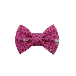 Ružový charitatívny psí motýlik so srdiečkami Funky Dog, veľ. S