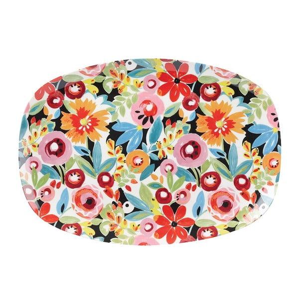 Servírovací tanier Churchill China Collier Campbell Flowerdrop, 30x21 cm