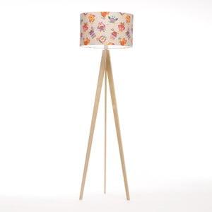 Stojacia lampa Artist Happy Ow Linnenl/Birch Natural, 125x42 cm