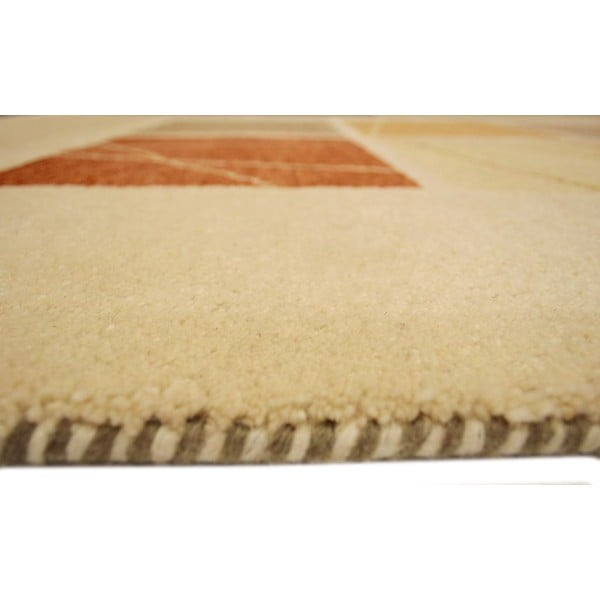 Vlnený koberec Baku Beige, 90x160 cm