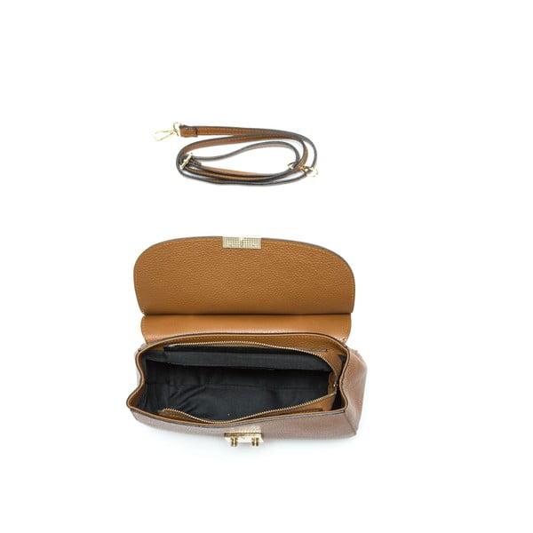 Hnedá kožená kabelka Isabella Rhea Claudia