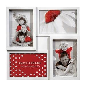 Biely fotorámiky na štyri fotky