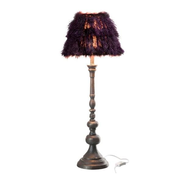 Stojacia lampa s pravým pštrosím perím Auberg
