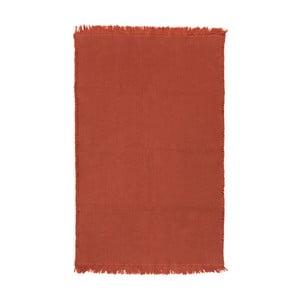Detský oranžový bavlenný koberec Nattiot Albertine 85×140 cm