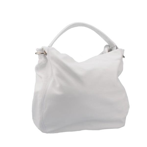 Biela kožená kabelka Florence Agena