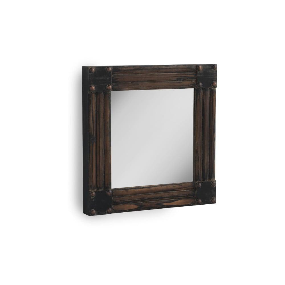 Hnedé nástenné zrkadlo Geese, 57 x 57 cm