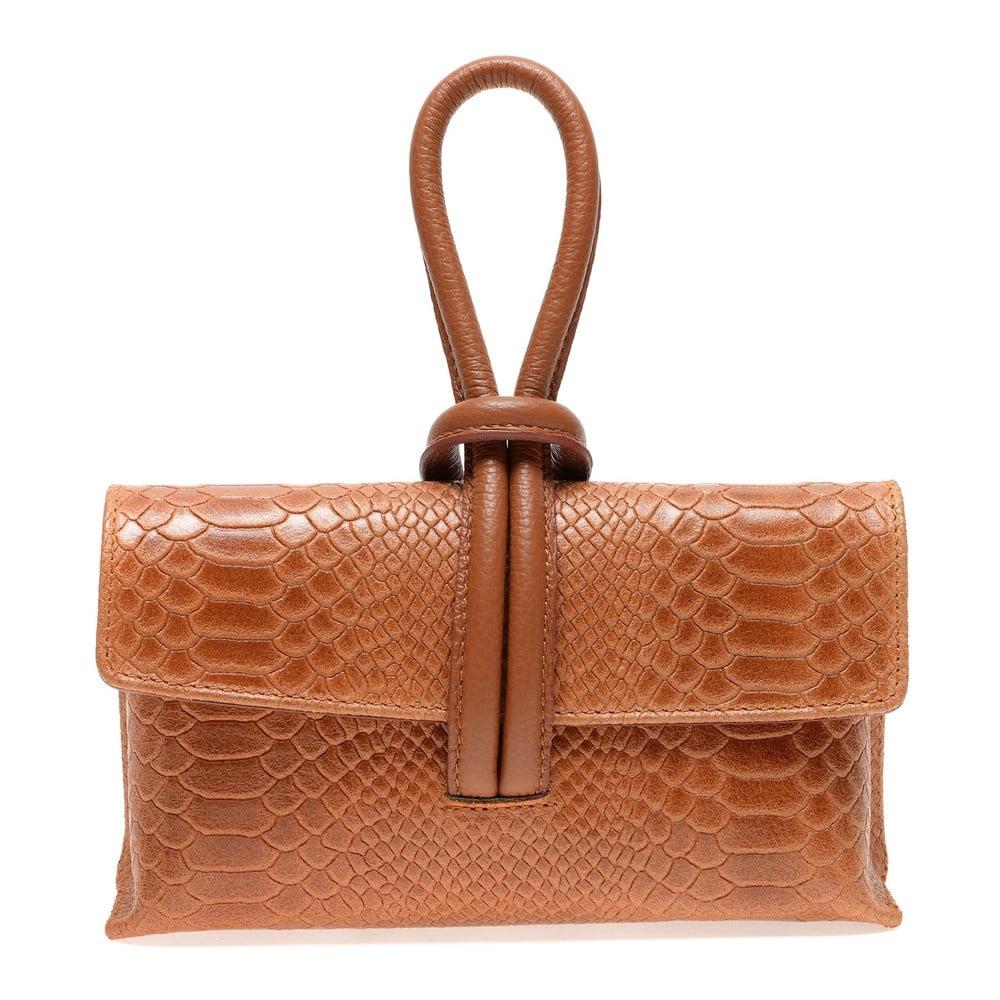 Hnedá kožená kabelka do ruky Renata Corsi