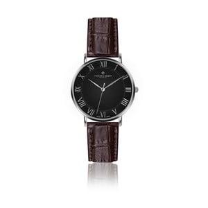 Pánske hodinky s hnedým remienkom z pravej kože Frederic Graff Silver Dom Croco Brown Leather