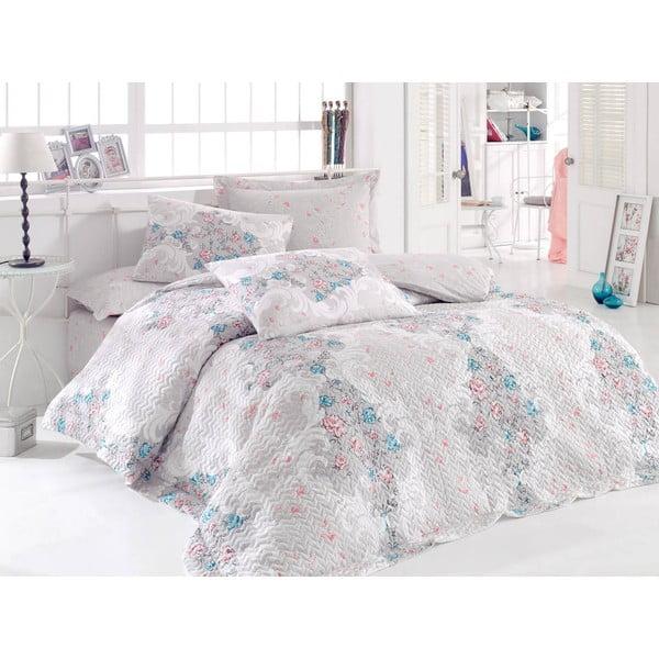 Sada prešívanej prikrývky na posteľ a dvoch obliečok na vankúš Seasons 251, 220x230 cm;