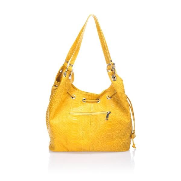 Kožená kabelka Divisa, žltá