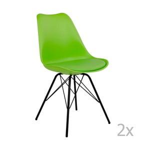 Sada 2 zelených stoličiek House Nordic Oslo