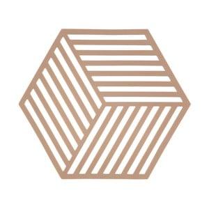 Oranžová podložka pod horúce nádoby ZONE Hexagon