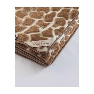 Hnedá deka z ťavej vlny Royal Dream Camel Shapes, 220 x 200 cm