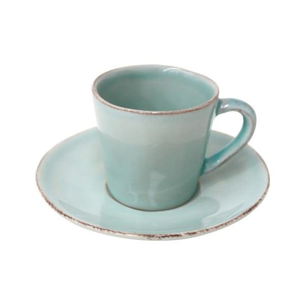 Tyrkysová keramická šálka na kávu stanierikom Ego Dekor Nova, 70ml