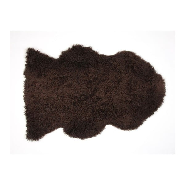 Ovčia kožušina Curly Chocolate, 90 cm
