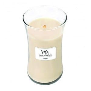 Sviečka s vôňou kokosového mlieka a vanilky Woodwick, doba horenia 130 hodín