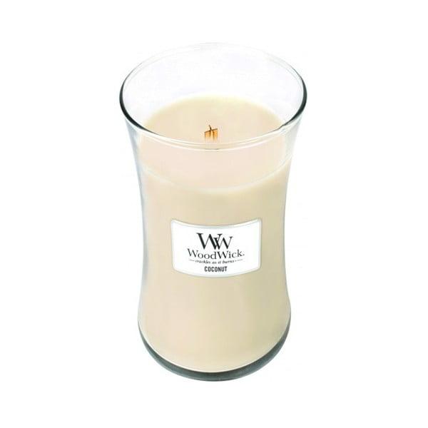 Vonná sviečka WoodWick v oválnej váze  Coconut Bath