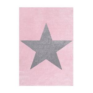 Ružovo-sivý detský koberec Happy Rugs Superstar, 80x150cm