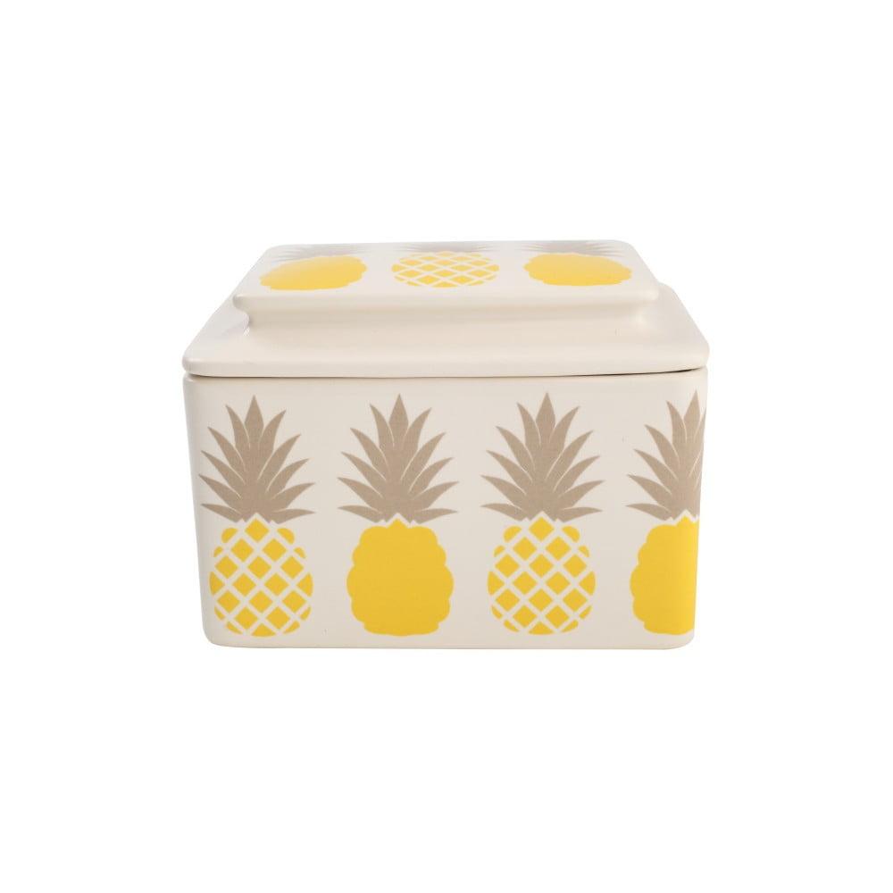 Keramická nádoba na maslo T&G Woodware Tutti Frutti Pineapple
