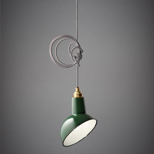 Závesné svetlo Miniature Angled Cloche Green/Grey