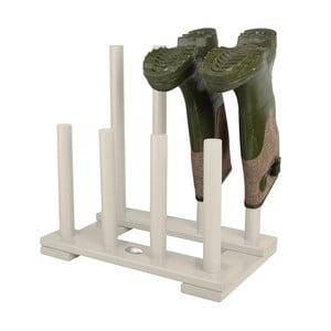 Biely stojan na 4 páry topánok z borovicového dreva Esschert Design