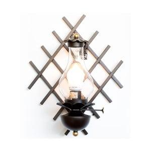 Čierne kovové nástenné svietidlo Cruccolini Tempi