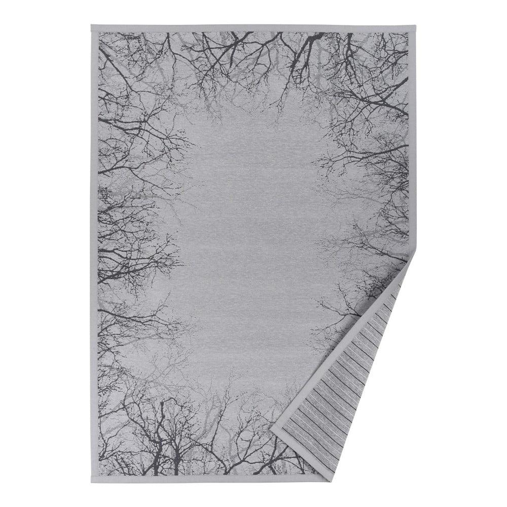Sivý vzorovaný obojstranný koberec Narma Puise, 70 x 140 cm