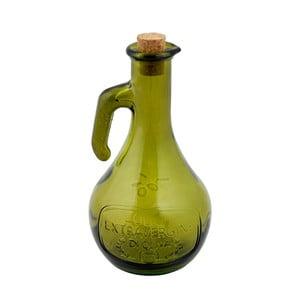 Zelená fľaša na olej z recyklovaného skla Ego Dekor Olive, 500 ml